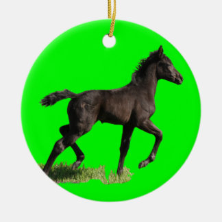 Little Filly Horse Baby's First Christmas Ornament