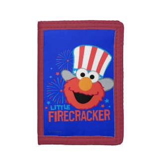 Little Firecracker Elmo Trifold Wallets