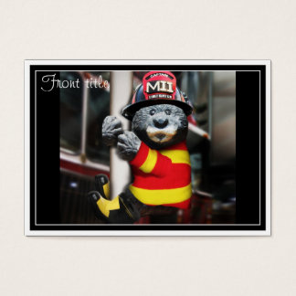 Little Firefighter Business Card