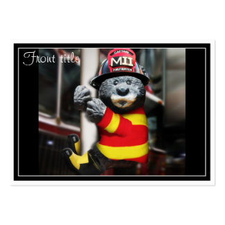Little Firefighter Pack Of Chubby Business Cards