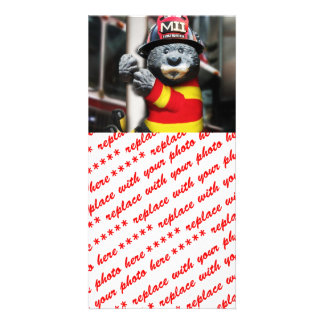 Little Firefighter Photo Greeting Card