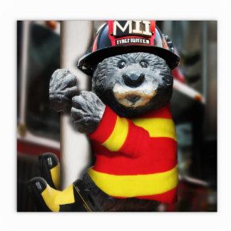 Little Firefighter Photo Sculpture