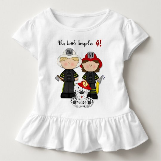Little Firegirl Birthday - Customise Toddler T-Shirt