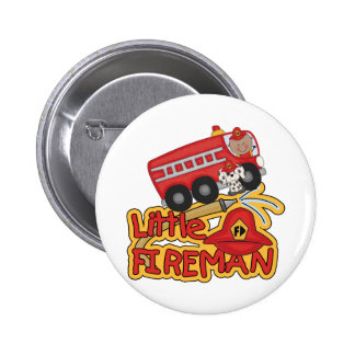 Little Fireman, African American 6 Cm Round Badge