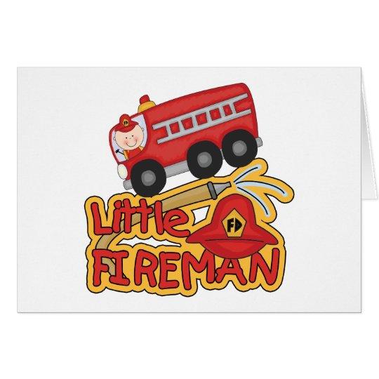 Little Fireman, Caucasian Card