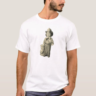 Little Fireman - Vintage Illustration T-Shirt