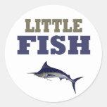 LITTLE FISH CLASSIC ROUND STICKER