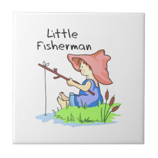 LITTLE FISHERMAN SMALL SQUARE TILE
