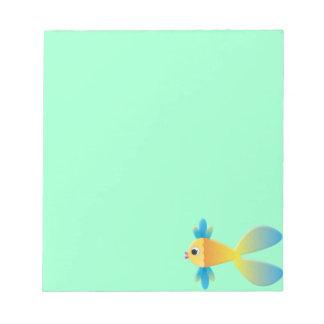 Little Fishy Cartoon Notepad