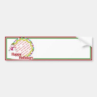 Little Flirty Sweetheart Snowgirl Photo Frame Bumper Sticker