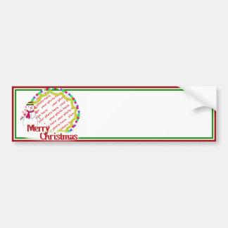Little Flirty Sweetheart Snowgirl Photo Frame Bumper Stickers