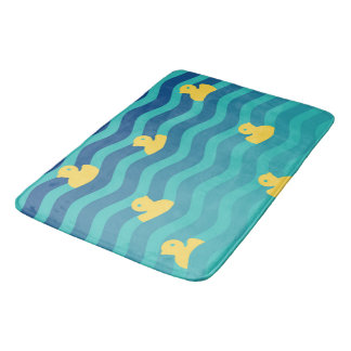 Little Floating Yellow Ducks Bath Mat
