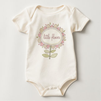 little flower organic baby wear baby bodysuit