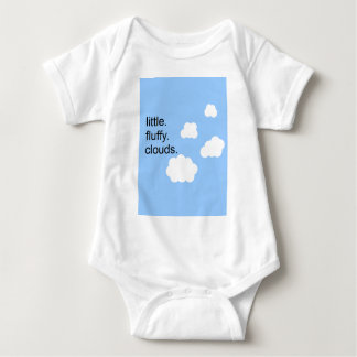 little. fluffy. clouds. baby bodysuit