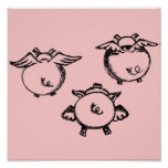Little Flying Piggies Posters