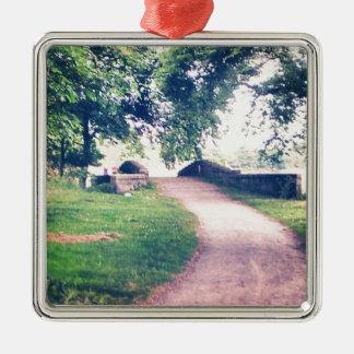 Little footbridge christmas ornament
