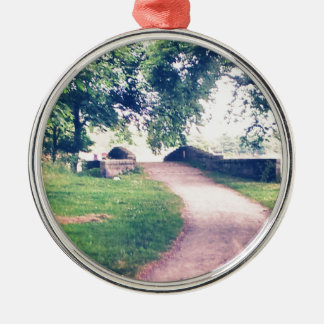 Little footbridge christmas ornament
