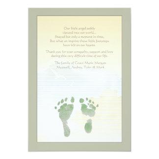 Little Footprints Bereavement Thank You Card 13 Cm X 18 Cm Invitation Card