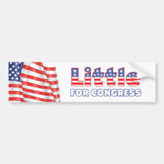 Little for Congress Patriotic American Flag Bumper Sticker