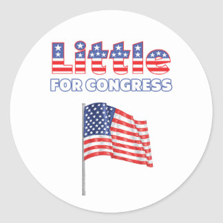 Little for Congress Patriotic American Flag Stickers