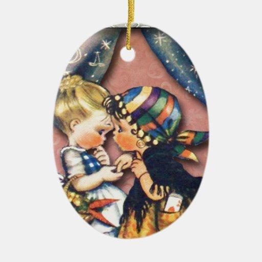 Little Fortune Teller, altered art original Ornament