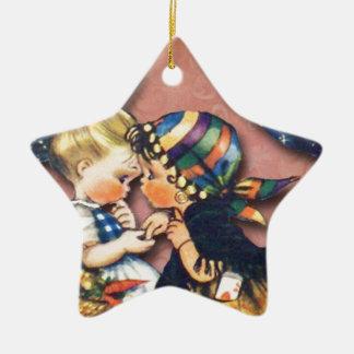 Little Fortune Teller altered art original Christmas Tree Ornaments