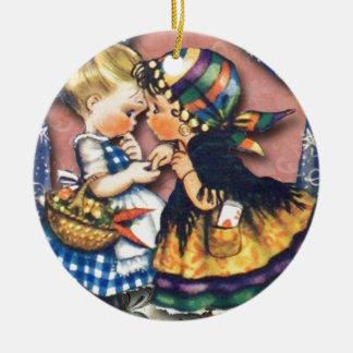 Little Fortune Teller altered art original Christmas Tree Ornament