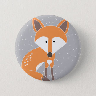 Little Fox 6 Cm Round Badge