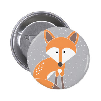 Little Fox 6 Cm Round Badge