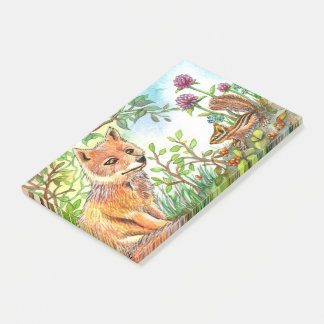Little Fox And Chipmunk Post-it® Notes