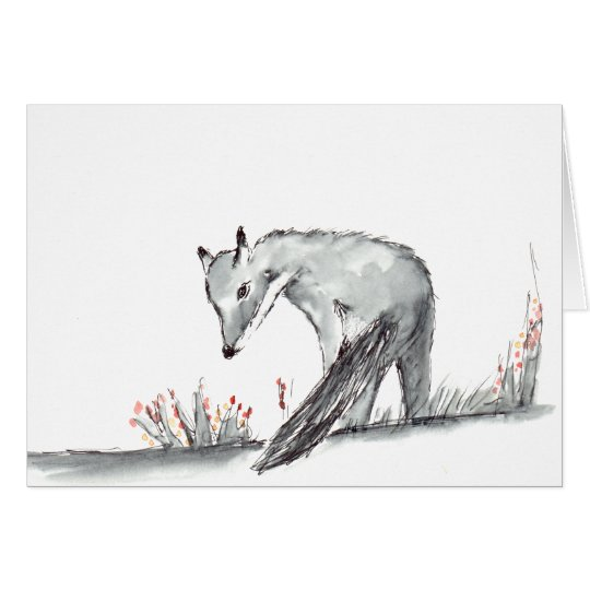 Little fox art card (a92)