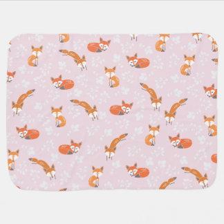 Little Fox Baby Blanket - Blush Pink