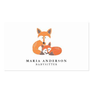 Little Fox Babysitter Business Cards