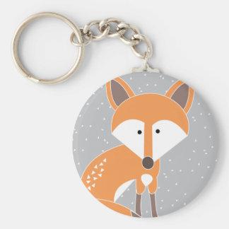 Little Fox Basic Round Button Key Ring