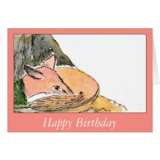 Little fox birthday card (a271)