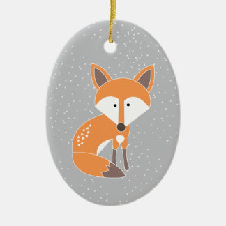 Little Fox Christmas Ornament