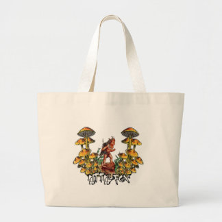 Little Fox In Mushroom Hell! Jumbo Tote Bag