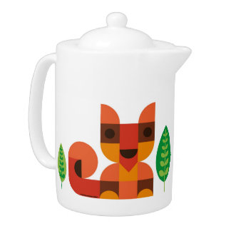 Little Fox Teapot- Teapot with cute Fox print