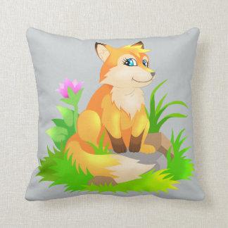 little fox throw cushion