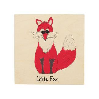 Little Fox Wooden Print