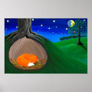 Little Fox | Woodland Nursery Dreamy Poster