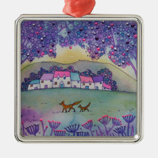 Little Foxes Christmas Ornament