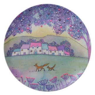 Little Foxes Dinner Plate