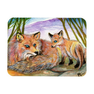 Little Fox's Nap Time Rectangular Photo Magnet