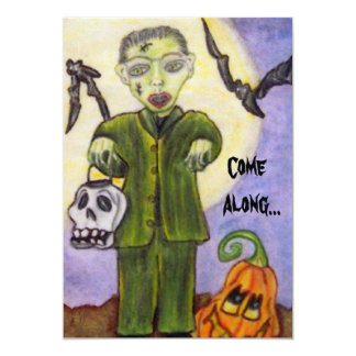 Little Frankenstein Custom Halloween Invitatation Card