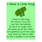 Little Frog Poem Postcard