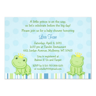 Little Frog Prince Baby Shower Invitations