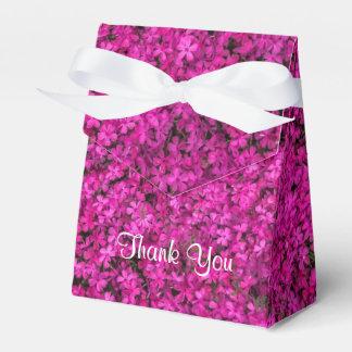 Little Fuschia Flowers Tent Favor Box Wedding Favour Box
