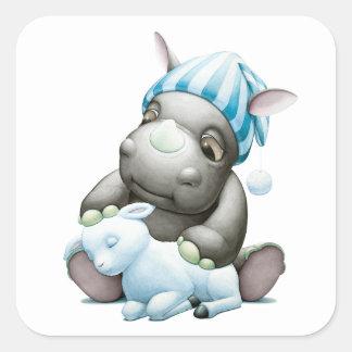 Little G the Baby Rhino Sticker