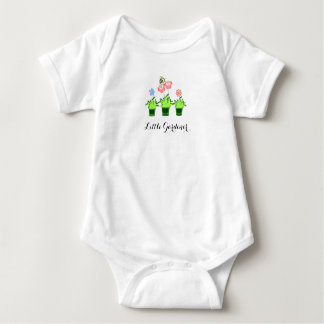 """Little Gardener"" Cute flower plants Baby Bodysuit"